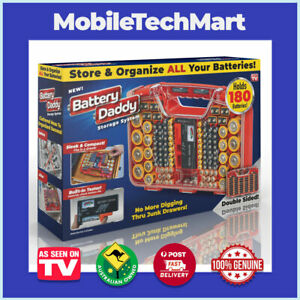 Battery Daddy ❖ AS SEEN ON TV ❖ Organise Store Protect 180 Batteries Storage Box
