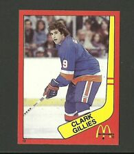 Clark Gillies New York Islanders #13 1982-83 McDonald's Hockey Sticker NM/M