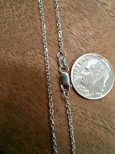 """15.75"""" 14K White Gold 1.35mm Rolo Chain Necklace - 2.457 grams"""