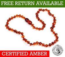 100% Genuine Baltic Amber Beads Child Necklace Honey - UK distributor - NE0028