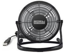 mumbi USB Tisch Ventilator Mini Fan Venti für Computer Notebook Laptop schwarz
