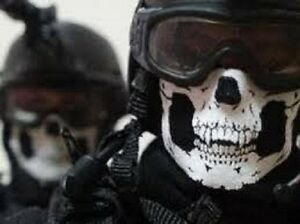 Motorcycle Mask COD GHOST Cold Gear Half Dot Special Skull Forces Protector