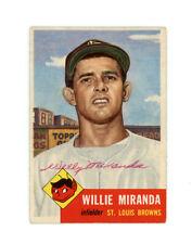WILLIE MIRANDA signed 1953 TOPPS baseball card #278 BROWNS Rookie