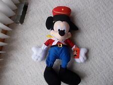 """Mickey Mouse Nutcracker Toy Soldier Large 30"""" Plush Stuffed Toy Band Leader EXC"""