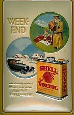 Shell Petrol Weekend embossed steel sign   (hi 3020)