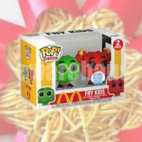 Funko POP! McDonald's Fry Kids 2-Pack Green/Red Funko Shop Exclusive *IN HAND*