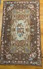 """35"""" X 60"""" Vintage HAND CRAFTED ROSES Needlepoint Rug European Style"""