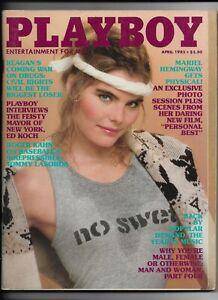 Vintage April 1982 Playboy Magazine ~ MARIEL HEMINGWAY ~ Linda Vaughn ~ Ed Koch