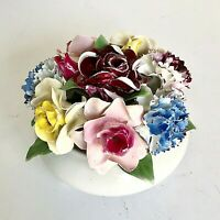 Porcelain Bouquet Flowers Centerpiece Made in China Boxed No Damage