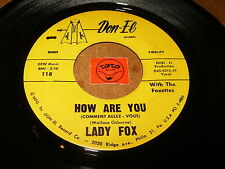LADY FOX - HOW ARE YOU - IT MUST BE LOVE   / LISTEN - SOUL POPCORN