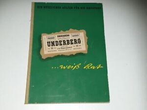 Werbung – Büchlein - UNDERBERG...weiß Rat - 3. Auflage 1957