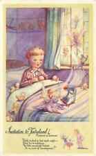 Early INVITATION TO FAIRYLAND   Dorothy Watkins Children FANTASY  Postcard