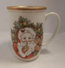 "Fitz & Floyd ""St. Nicholas"" Pattern Mug (S) 4"" Excellent!"