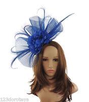 Royal Blue Fascinator Hat for weddings/ascot HEadband