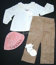 NEW Janie and Jack Riding Club 4pc Outfit Set Jodpurs Floral Hat 18 24 Mo 2T NWT