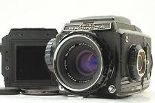 【Exc+5】  Bronica S2 Late Model Black Body + 75mm f/2.8 Lens Film back From JAPAN