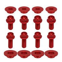 CNC Screws Bolts of Radiator Shrouds For Honda CR125 CR250 CRF450 2000-2004 Red