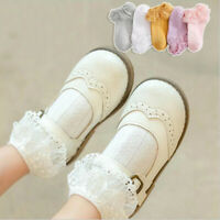 Toddler First Walkers Princess Double Lace Baby Ruffle Socks Flower Ankle Sock