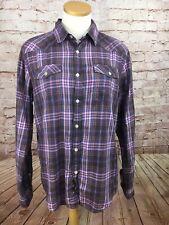 Heritage 1981 Men's Plaid Shirt Long Sleeve Button Down Los Angeles Size M