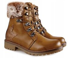 WOMENS LADIES FAUX FUR WINTER WARM ANKLE BOOTS TRAINERS SHOES LOW Heel FLAT