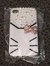 New Hello Kitty Pink Bow Bling Rhinestone & Pearl iPhone 4 4s case NIP
