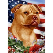 Patriotic (1) House Flag - Orange Staffordshire Bull Terrier 16247
