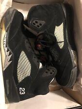 Air Jordan 5 Retro Black Varsity Red Men's Size 10