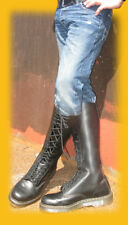 NEW DR. MARTENS RARE, 20-EYELET, WAY-TALL, BLACK BOOTS! LOW PRICE! sizes 11 & 13