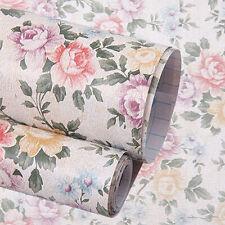 DIY Vintage Peony Wardrobe Storage Pad Adhesive Shelf Contact Paper 200cm