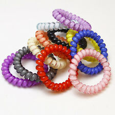 10Pcs Rubber Telephone Wire Hair Ties Spiral Head Elastic Bands Hair Ring Rope
