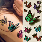 3D Temporary Colorful Butterfly Tattoo Sticker Body Art Removable Fantastic