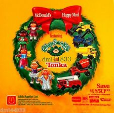 1992 McDonalds Tonka Trucks MIP Complete Set - Lot of 5, Boys, 3+