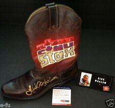 KIRK WHALEM Signed Music City Walk Custom Decor STAX Durango Boot PSA/DNA COA