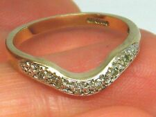 Genuine 9ct Gold Diamond Eternity Ring UK Hallmarked. size M   (LLR)