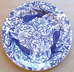 "ROYAL CROWN DERBY PEACOCK BLUE  8"" SALAD PLATE (Ref6336)"
