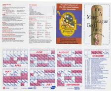 Cleveland Indians 1991 Pocket Schedule Unfolded Lot 25 American Fireworks Ad