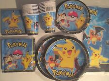 POKEMON Pikachu & Friends Disney Birthday Party Supply SUPER Kit w/32 Plts & Nap