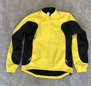 Canari Women's Large Cycle Jacket Fleece Lined Polyester with Yellow