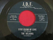 VOCAL GROUP 45 - THE DELVONS - STAY CLEAR OF LOVE / PLEASE STAY - J.D.F. 760