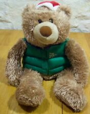 "Hallmark Christmas Teddy Bear W/ North Pole Vest 14"" Plush Stuffed Animal Toy"