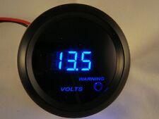 """2"""" Digital Volt Gauge Black with Blue LED Volt Meter 0-15 Volts"""