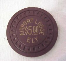 Airport Lodge Ely, Nevada $5.00 Casino Chip