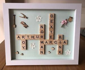 Handmade Personalised Scrabble Frame