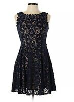 City Studio Dress A-line Sleeveless Lace Black Prom Party NEW size 7 Juniors NWT