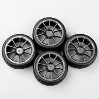 4pcs RC 1/10 On-Road Racing Car Rubber Tires & Wheels Rim  For HPI HSP Car Model