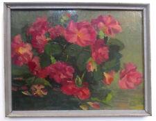1984 ORIG. Flowers OIL Painting ROSES- Russian ARMENIAN art KOBIAN Kobyan Կոբյան