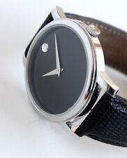 MOVADO Men's Watch, Steel MUSEUM model, MO.01.1.14.6000, 40mm FULL SIZE! Nice!