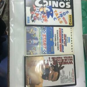 Sega VHS 3 Set Sonic The Hedgehog 2 VIRTUA FIGHTER 2 Video Mega drive Limited