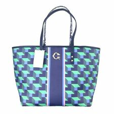 Wonder Green Building Blocks Pattern Large Tote and Pouch Bundle by C