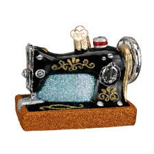 """Sewing Machine"" (32103)X Old World Christmas Glass Ornament w/ OWC Box"